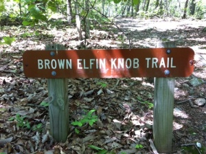 Brown Elfin Knob Trail, Occoneechee Mountain State Natural Area, Hillborough, NC