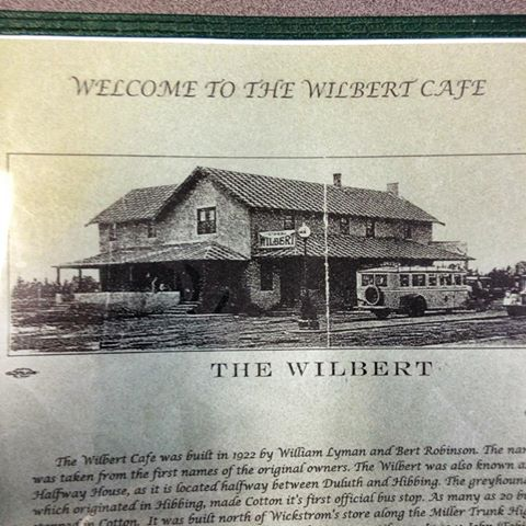 The Wilbert Cafe, Hwy 53 in Cotton, MN: the only eatery in Sax Zim country.