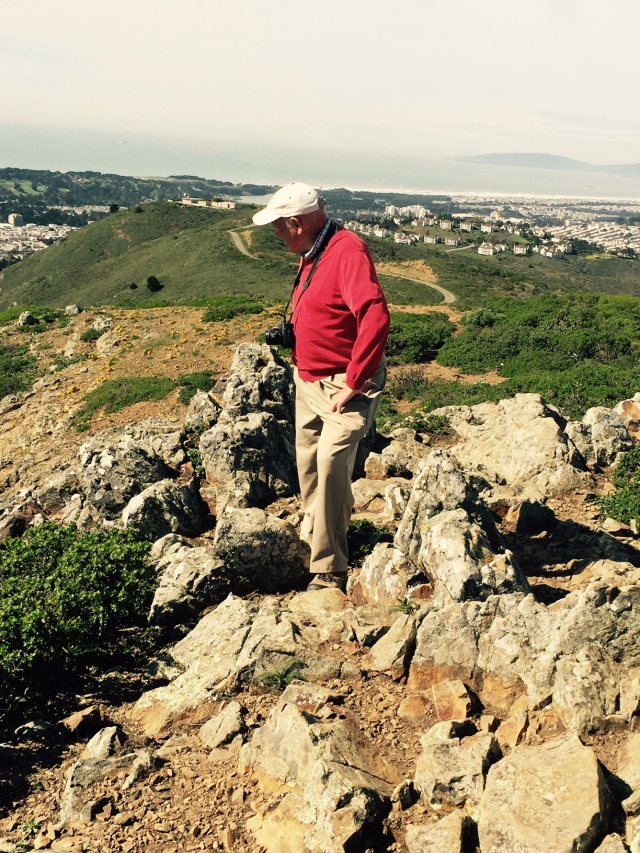David Rawlinson surveys San Bruno Mtn on Leap Day 2016